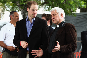 HRH Prince William with Peter Beck. Photo / Hannah Johnston