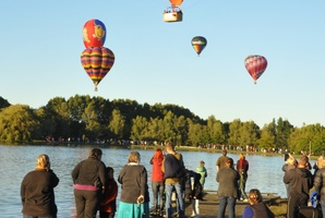 Festival director Martyn Stacey said large crowds turned out during the four-day ballooning festival. Photo / Supplied