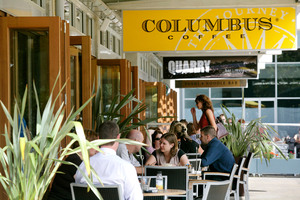 Columbus Coffee at Westfield includes an attractive outdoor area. Photo / Supplied