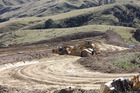 Heavy machinery prepare a site near Dannevirke for oil exploration.  Photo / Christine McKay