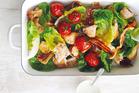 Roast chicken caesar salad. Photo / Donna Hay Magazine
