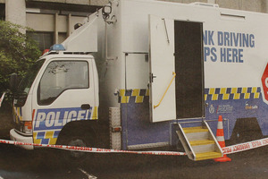 The booze bus where Ms Gilbertson died. Photo / supplied