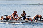 The Napier Boys High School coxed fours react after lsoing their final. Photo / GRANT BRADLEY