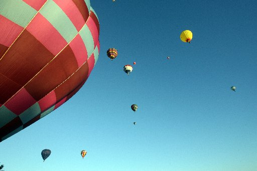 HOT STUFF: The 15th Balloons Over Wairarapa festival was launched from carrington Park, Carterton.