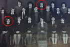 Burnside High School's 1976 debating team showing John Key circled in the front row and Alistair Fletcher, brother of GCSB head Ian Fletcher, circled in the back row. Photo / Supplied