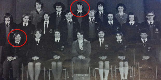 Loading Burnside High School's 1976 debating team showing John Key circled in the front row and Alistair Fletcher, brother of GCSB head Ian Fletcher, circled in the back row. Photo / Supplied
