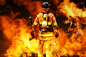 A helmet has been created to help firefighters navigate through thick smoke and fire. Photo / Thinkstock