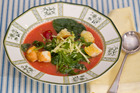 Fresh garden tomato soup. Photo / Michael Craig