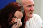 Mick Philpott and wife Mairead during a press conference in 2012. Photo / AP