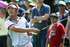 Kiwi golfer Danny Lee, looking for a return to golf's top flight, is giving himself a real chance of victory in the web.com Tour event this week in Brazil. Photo / Getty Images.