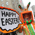 Davey Mitchell, of New York, left, poses for photographs on New York's Fifth Avenue as he takes part in the Easter Parade. Photo / AP