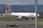 Fiji Airways's new Airbus A330 made its maiden commercial flight to New Zealand today.