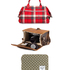 Get away in style with the best travel accessories. Country Road makeup case $44.90. Citta tartan bag $89.90. Elver chest $219. Herschel Supply Co. sleeve, $60, from Area 51. Photo / NZH, Supplied