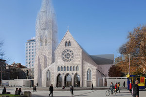The three options include rebuilding the original Christ Church Cathedral, a traditional timber construction and a contemporary structure. Photos/Supplied