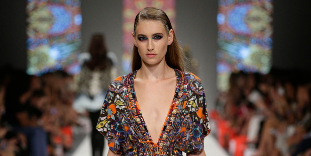 The global traveller look from Camilla at L'Oreal Melbourne Fashion Festival. Photo / Supplied