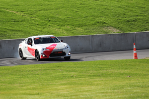 Neal Bates puts the TR 86 through its paces at Cromwell's new track, Highlands Motorsport. Picture / CORAL