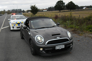 Debra-Rose Charman was stopped for speeding but talked the officer into a donation. Picture/ Paul Charman