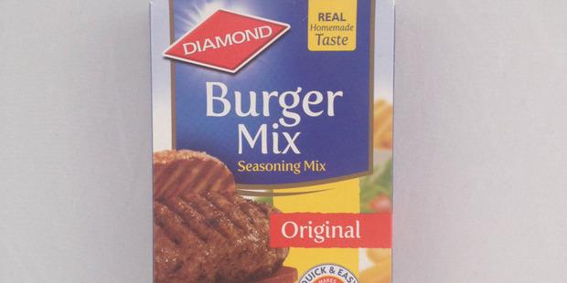Diamond Burger Mix Seasoning Mix $3.59 for 200g.  Photo / Supplied