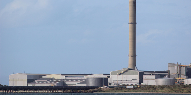 The Tiwai Pt aluminium smelter. Photo / Grant Bradley