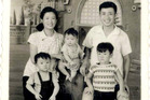 National MP Jian Yang and his family in 1965. Photo / Supplied