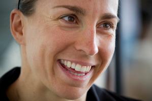 German Anne Haug wants to improve her swim leg. Photo / Greg Bowker