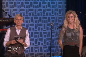 Gin Wigmore performed her song on Ellen yesterday after releasing her album in the United States.