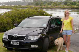 Chelsea uses the Skoda Superb wagon for weekends away to visit family out of Auckland, and appreciates the economy of the diesel engine.Picture / Ted Baghurst