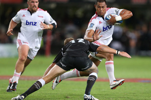 Robbie Fruean proved a handful for the Crusaders against the Sharks. Photo / Getty Images