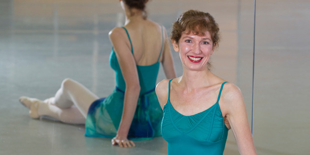 Penelope Ryder-Lewis preparing for her class at the NZ School of Dance, Wellington. Photo / Mark Mitchell