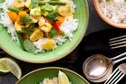 Thai green curry with pumpkin. Photo / Babiche Martens