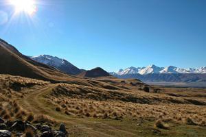 Mesopotamia Station near Geraldine, looking toward the Southern Alps. Photo / Supplied