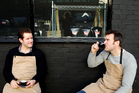 Richard Reed and Gerard Fisher had a hard time getting their coffee business, Nude Espresso, started in London during the global financial crisis but now have three outlets and roast a tonne of beans every week. Photo / Supplied