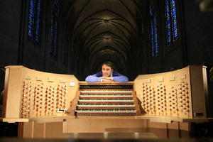Notre Dame organist Oliver Latry was a Town Hall draw card. Photo / Supplied