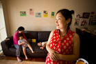 Dong Suk Jang (right), 34, with her mum, Ul Yeol Kim, and children, Sun Gyo Kwak, 4, and Suna Kwak, 2. Photo / APN