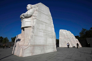 Martin Luther King occupies a prominent place in America's pantheon of national heroes. There is a memorial statue to him in Washington. Photo / AP