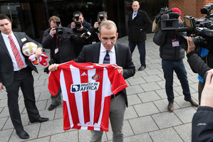 Paolo Di Canio (centre) says he refuses to talk politics and will only discuss football. Photo / AP