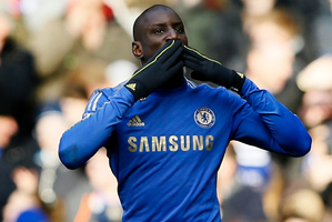 Demba Ba was the sole goal scorer in Chelsea's 1-0 FA Cup triumph over Manchester United. Photo / AP