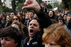 Cypriots face tough times as the country's economy turns down sharply because of the crisis. Photo / AP