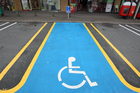 Vehicles displaying a mobility parking permit can remain in time-restricted parking spaces for double the restricted time up to P120. Photo / Andrew Warner