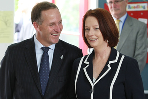 John Key and Julia Gillard will be glad to step away from respective domestic headaches for the Boao forum. Photo / Greg Bowker