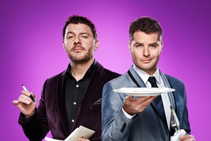 My Kitchen Rules judges Manu Feildel and Pete Evans. Photo / Supplied