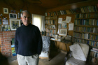 Author Graeme Lay in Frank Sargeson House, in Takapuna. Photo / Kellie Blizard