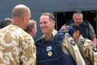 New Zealand Prime Minister John Key visit troops in Kabul, Afghanistan in 2010. Photo / Maggie Tait