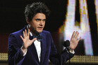John Mayer on stage at the Grammy Awards. Photo/AP