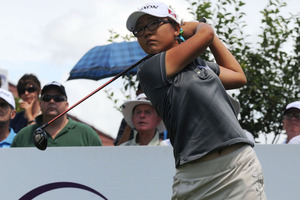 World No 1 amateur Lydia Ko is currently seven shots off the lead at the Kraft Nabisco Championship on the LPGA Tour in California. Photo / Getty Images.