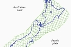 Images show the future shape of New Zealand if deformation measured between 1994 and 1998 continued unchanged. Graphic does not account for earthquakes meaning the amount of deformation in some areas may not be as large as indicated. courtesy GNS Science.