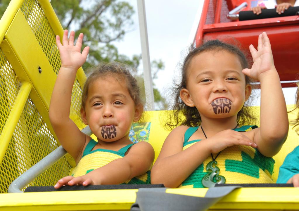 Te Kohanga Reo O Ngati Hamua 30th Anniversary celebrations, Douglas Park Masterton, Saturday, kohanga pupils Jayannah Batolic and Te Aroha Kerr