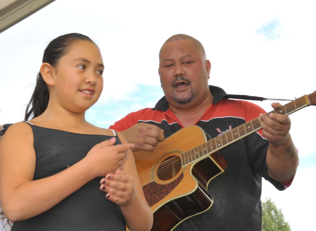 Te Kohanga Reo O Ngati Hamua 30th Anniversary celebrations, Douglas Park Masterton, Saturday, Carly Karaitiana and Mike Kawana from the Arorangi Kapahaka group