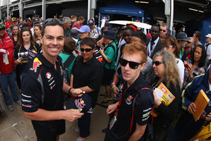 Fans will get the chance to meet drivers like Craig Lowndes at sessions in Queen St tomorrow and at Pukekohe during the weekend.Picture / Getty Images