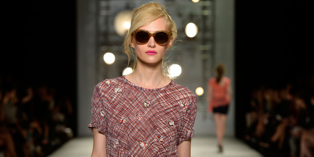 Kate Sylvester's Marilyn Monroe inspired look, on the Australian Fashion Week runway. Photo / Getty Images